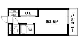 アルク夙川[302号室]の間取り