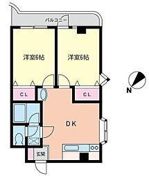 コンフォート田中[3階]の間取り