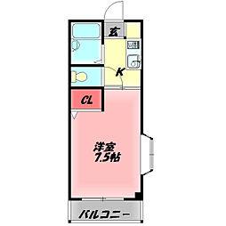 M'プラザ竜田通 4階1Kの間取り
