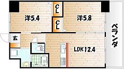 ウィングス三萩野[3階]の間取り