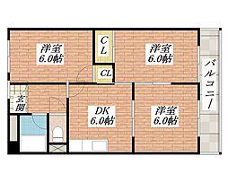 西田ハイツ[2階]の間取り