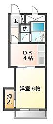 ハイツオーキタ庄内[3階]の間取り