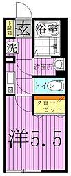シャーマ北綾瀬[1階]の間取り
