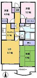 メゾン・ド・ベール早稲田3[1階]の間取り