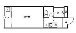 poika四条烏丸(ハイツ静)[5-B号室号室]の間取り