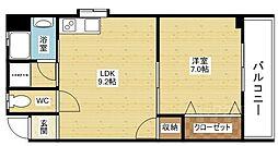 谷田十三マンション[4階]の間取り