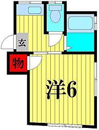 キングハイツ[2階]の間取り