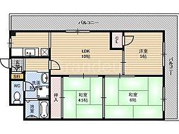 ハイムカランツ[2階]の間取り