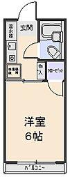 藤栄ハイツ[203号室]の間取り