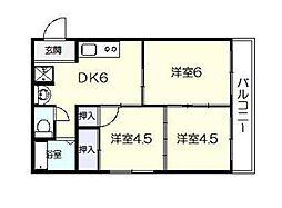 宮崎県宮崎市西池町の賃貸アパートの間取り