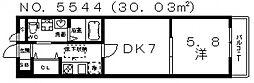 MOCO-05[105号室号室]の間取り