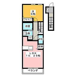 アルモニーメゾン I[2階]の間取り