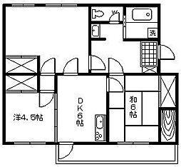 椿ヶ丘ヒルズ[305号室]の間取り