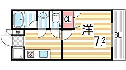 アルミュール桜ヶ丘II番館[201号室]の間取り