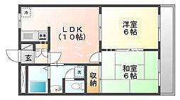 兵庫県小野市天神町の賃貸マンションの間取り