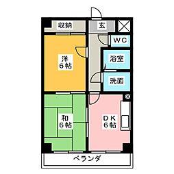 エステート岩塚[7階]の間取り