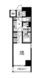 プレール・ドゥーク西浅草[4階]の間取り