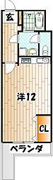 神岳第一ハイツ[2階]の間取り