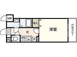 広島高速交通アストラムライン 大塚駅 徒歩9分の賃貸マンション 1階1Kの間取り