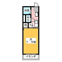 シティハイムクレスト[2階]の間取り