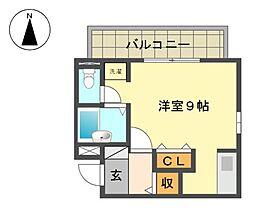 愛知県名古屋市名東区朝日が丘の賃貸マンションの間取り