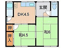 丸美荘[1階]の間取り