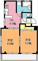 埼玉県上尾市春日2丁目の賃貸マンションの間取り