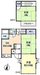 [一戸建] 千葉県佐倉市上座 の賃貸【/】の間取り