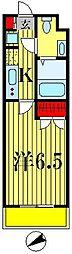 パークキューブ北松戸[9階]の間取り