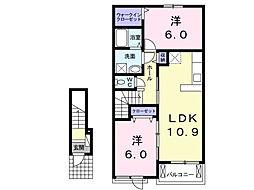 トゥインクル B[2階]の間取り