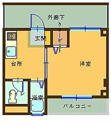 広島県呉市広白岳3丁目の賃貸マンションの間取り