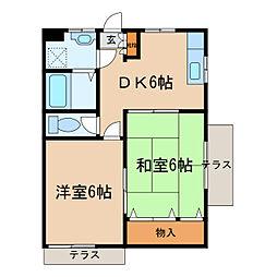 昭和コーポ若松町I[103号室]の間取り