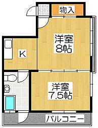 小堀マンション久保町[5階]の間取り