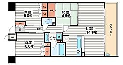 KWレジデンス日本橋[2階]の間取り