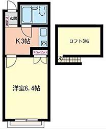 プチハウス[205号室]の間取り
