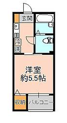 フォセット松戸・上本郷[202号室]の間取り