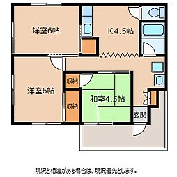 くるまや団地[2階]の間取り