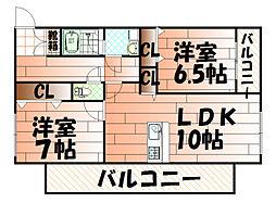 高峰第6晴和ビル[305号室]の間取り