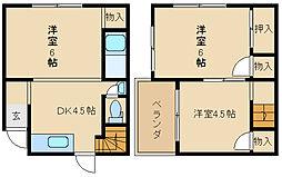 [一戸建] 大阪府東大阪市旭町 の賃貸【/】の間取り