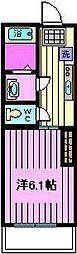 リブリディアコート上戸田 3階1Kの間取り