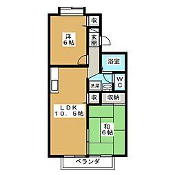 プリマべーラB[2階]の間取り
