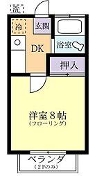 第一天久保寮[2階]の間取り