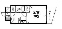 兵庫県宝塚市栄町1丁目の賃貸マンションの間取り