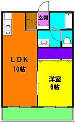 静岡県磐田市水堀の賃貸マンションの間取り