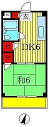 田村マンション[1階]の間取り