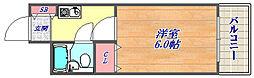 シャルムメゾン六甲道[2階]の間取り