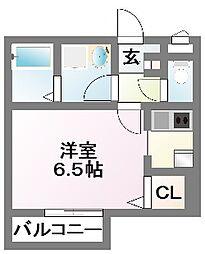 千葉県習志野市大久保3の賃貸アパートの間取り