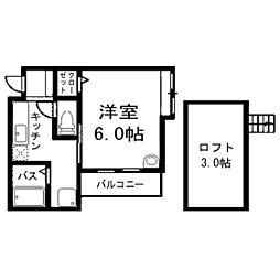 エーデル神松寺[2階]の間取り