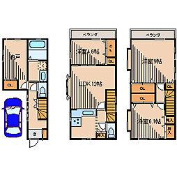 [一戸建] 神奈川県相模原市南区御園2丁目 の賃貸【神奈川県 / 相模原市南区】の間取り