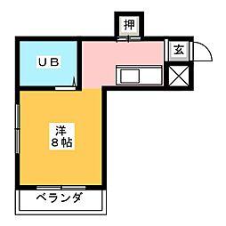 シャトーちゅうぶ[3階]の間取り